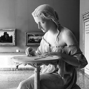 Giovanni Spertini, Fanciulla intenta a scrivere, 1866